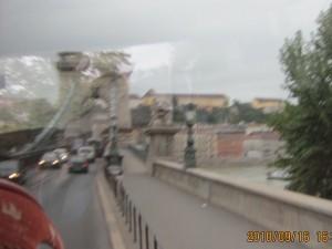 くさり橋通過