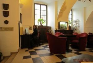 チェスキー・クロムロフのホテルロビー