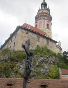 チェスキー・クロムロフ城の塔