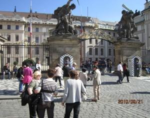 プラハ城の門