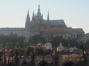 プラハ城朝の景色
