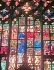 ヴィート教会のステンドガラス